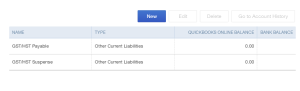 Two Default GST/HST Accounts